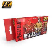 AK Interactivo Conjunto de Pintura Acrílica Uniforme Conjunto de 6 Colores soviético de la segunda guerra mundial