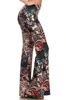 FLORAL PRINTED PALAZZO PANTS FLARED STYLE BOHO YOGA WIDE LEG BELL BOTTOM S M L