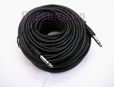 "100 Ft 1/4"" 6.3mm Stereo TRS Male Guitar Amplifier Speaker PA Instrument Cable"