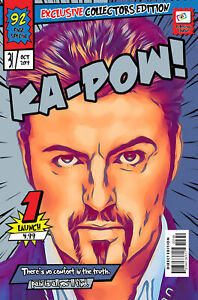 George Michael Comic Book Covers Art Print (Available In 4 Formats)