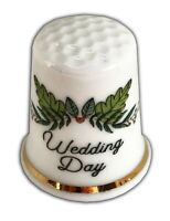 Personalised Wedding Day Fine Bone China Thimble, Wedding Anniversary Engagement