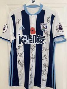West Bromwich Albion Shirt Darren Fletcher Signed By Team Matchworn Poppy Shirt