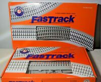 Lionel FasTrack Lot Curved Track 4 Pack 6-12033 & Straight Track 4 Pack 6-12032