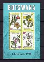 14826) BOTSWANA 1974 MNH** S/S  Flowers Christmas - Fiori