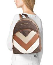 Michael Kors rucksack tasche abbey md  signiatur backpack braun pale gold neu