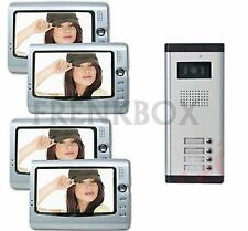 kit videocitofono per condominio condominiale:4 monitor e Telecamera 4 o 5 tasti