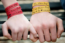 Lederarmband mit Gravur Wickelarmband echt Leder Armband individuell Wunschtext