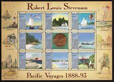 MARSHALL ISLANDS 1988 FOGLIETTO ROBERT LOUIS STEVENSON NUOVO GOMMA INTEGRA (507)