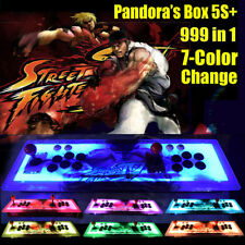 ☆ Real Pandora's Box 5S+ Multiplayer Home Arcade Console 999 Game 7 Colors Led