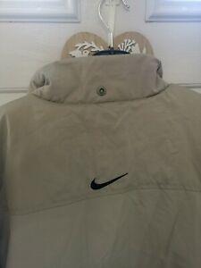Nike Arsenal Coat club Jacket baige cream  Rare Puffer Puffa Arsenal Size Large