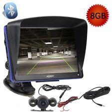 """NEW  8GB 7""""GPS Navigation Reverse Rear View Camera AV-IN Bluetooth 256MB RAM FM"""