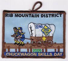BOY SCOUT PATCH - SAMOSET COUNCIL - RIB MT. DIST - 2005 CHUCKWAGON - 22ND ANNUAL