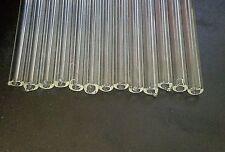 "10mm OD 6mm ID 11-12"" Borosilicate Glass Tubing 15 Tubes 2 mm Thick Pyrex COE 33"