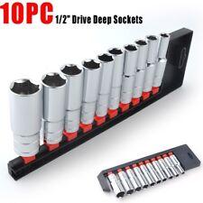 "10PC 1/2"" DEKTON METRIC DR DEEP DRIVE LONG SOCKET RAIL SET 10mm - 24mm"