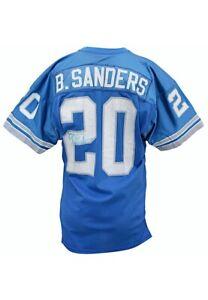 1990 Barry Sanders Game Worn & Signed Jersey Detroit Lions + GF LOA HOF