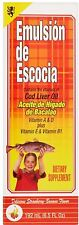 Emulsion De Escocia Cod Liver Oil, Strawberry Banana Flavored 6.50 oz (2 pack)