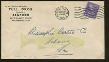 1945 Philadelphia Tull Bros. Seafood Dealers Fish Advertising Cover