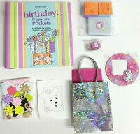 American Girl Doll Birthday Pages And Pockets Book Album Stamps Pins Present