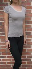 Womens Ladies SUPERFINE TOP T-shirt Tee Stretch XS S M L XL 8 10 12 14 16 18