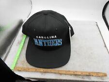 Vintage NFL Carolina Panthers Snapback Hat 90s NWT Black WITH TAG