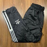 VTG Adidas Nylon Water Resistant Pants Trefoil Big Logo Mens Medium