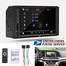 """7"""" 2 Din Car Stereo MP3 MP5 Player Bluetooth Mobile Charger with Remote Control"""