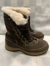EDDIE BAUER Weather Edge Insulated Winter Snow Boots Women's 7 M Brown Leather