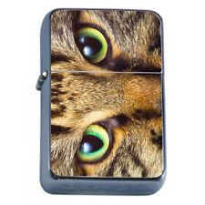Animal Eyes Em2 Flip Top Oil Lighter Wind Resistant With Case