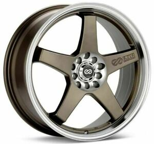 Enkei EV5 17x7 5x100/114.3 38mm Offset 72.6 Bolt DiaMatte Bronze Wheel
