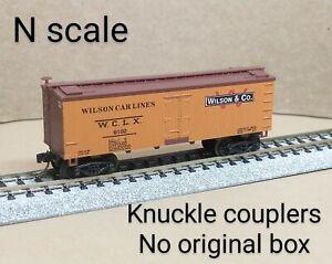 Wilson WCLX refrigerator reefer car N scale MTL Micro Trains orange W lines & Co