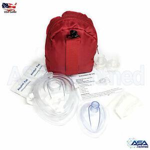 Adult/Child + Infant CPR Pocket Resuscitator Rescue Masks w 2 Valves, ASATechmed