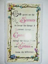 Serenity Prayer ~ Verse Card