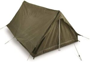 Genuine French army F1/F2 2-Person Tent Olive Beige France military surplus NEW