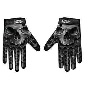 Lethal Threat Bio Skull Mens Street Riding Racing Motocross Motorcycle Gloves