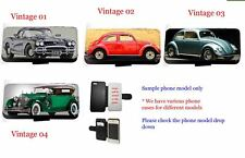 Vintage Car phone case Beetle leather wallet flip case for iPhone Samsung HTC