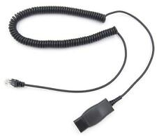 Replacement His Quick Disconnect Adapter Cable For Plantronics Avaya 9600 Phones