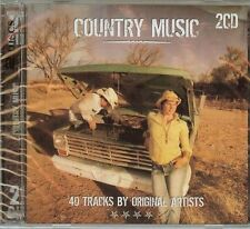 COUNTRY MUSIC - VARIOUS ARTISTS - 2 CD SET - 40 SONGS - NEW - FREE SHIPPING !