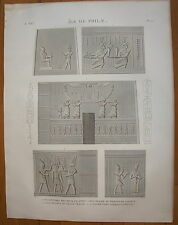 DESCRIPTION DE L'EGYPTE, 1809, ILE DE PHILAE, PLANCHE 12