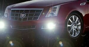 White LED Halo Fog Lamps Driving Fog Light Kit for 2008-2013 Cadillac CTS