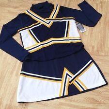 ADULT XXL 2XL NAVY BLUE Cheerleader Uniform Crop Top Shell Skirt 44-46/36-38 NEW