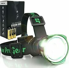 New listing Outdoor Pro Gear Led Headlamp Flashlight [3-AA Batteries Included] Super Bright