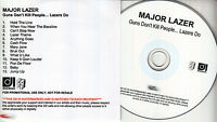 MAJOR LAZER Guns Don't Kill People Lazers Do UK 13-trk watermarked promo test CD