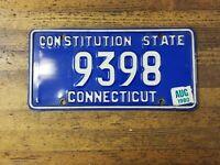 Vintage LICENSE PLATE CONNECTICUT CT Car Tags 9398 Retro Man Cave ☆USA