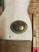 Vintage American Indian Design Belt Buckle Brass