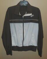 Nike Sportswear Jacket Womens XL Full Zip Track Grey White Coat EUC
