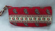 VERA BRADLEY INDIANA BRUSH AND PENCIL CASE RED PATTERN RARE EXCELLENT CONDITION