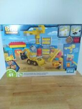 Mattel Mega Blox Bob the Builder. Work Yard Build-up Construction Toy - New!