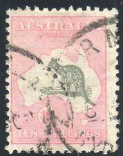 Australie - 1931-6 10/- GRIS & ROSE. une fine utilisé par exemple SG 136