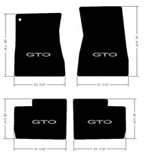 NEW! FLOOR MATS 1968-1972 PONTIAC GTO Embroidered Logo in silver on all 4 mats