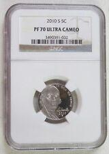 NGC PF 70 Ultra Cameo 2001 S Proof Jefferson Nickel 5-006